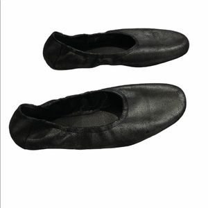 Eileen Fisher Black Metallic Flats Size 8